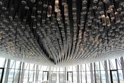 Le Belvédère au 8e étage de la Cité du vin de Bordeaux